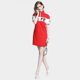 D&R Red Half Zip Dress (6480)