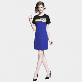 D&R Blue Tee Dress (6483)