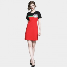 D&R Red Tee Dress (6483)