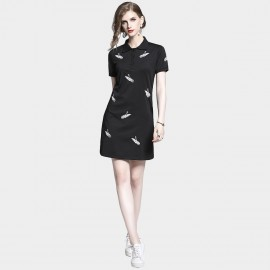 D&R Polo Style Black Dress (6485)