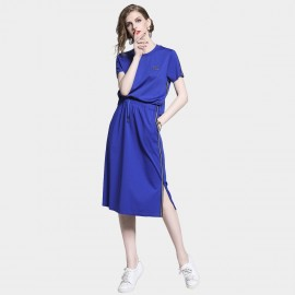 D&R Drawstring Blue Dress (6487)