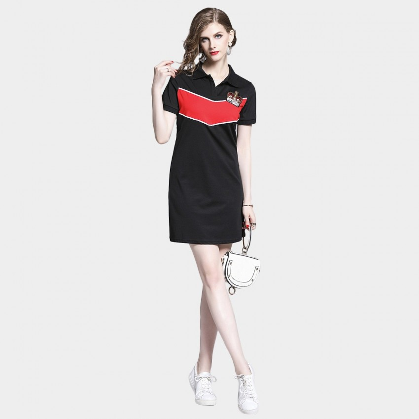 Buy D & R Crown Mini Black Dress online, shop D & R with free shipping