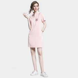 D&R Half Zip Pink Dress (6491)