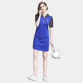 D&R Spotty Blue Dress (6492)