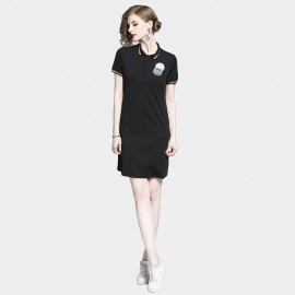 D&R 23 Black Polo Dress (6498)