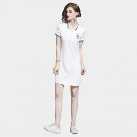 D&R 23 White Polo Dress (6498)