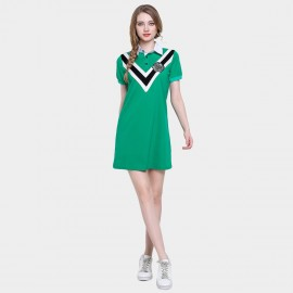 D&R Green Varsity Polo Dress (6500)