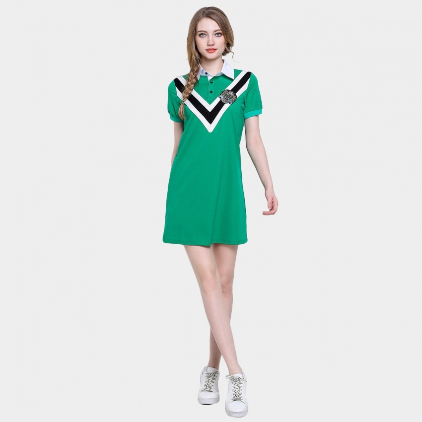 Buy D & R Purple Varsity Polo Dress online, shop D & R with free shipping