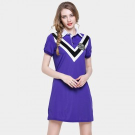 D&R Purple Varsity Polo Dress (6500)
