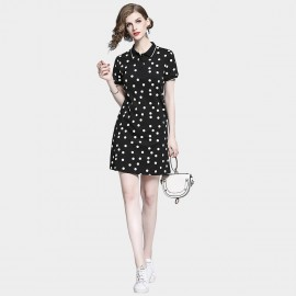 D&R Spotty Black Polo Dress (6501)
