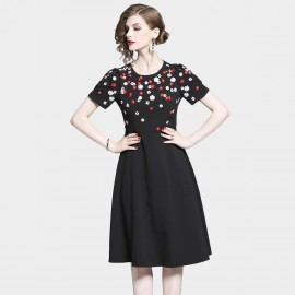 D&R Mini Florals Black Dress (6502)