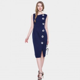 D&R Daisy Bodycon Navy Dress (6506)