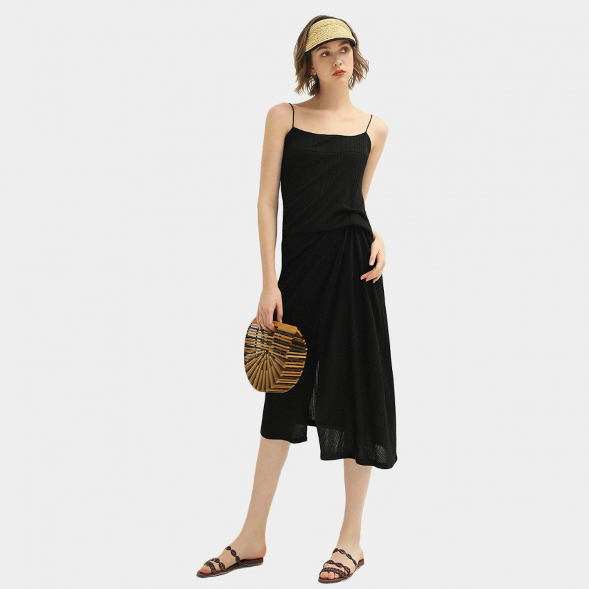 Buy Cocobella Black Midi Dress online, shop Cocobella with free shipping