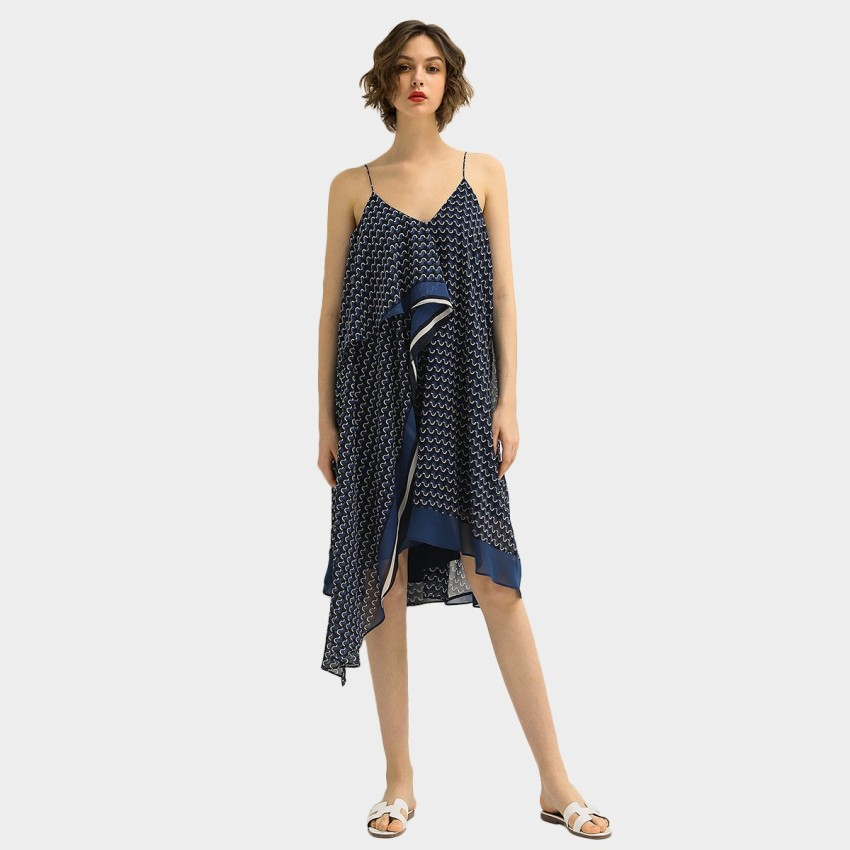 Buy Cocobella Printed Navy Dress online, shop Cocobella with free shipping