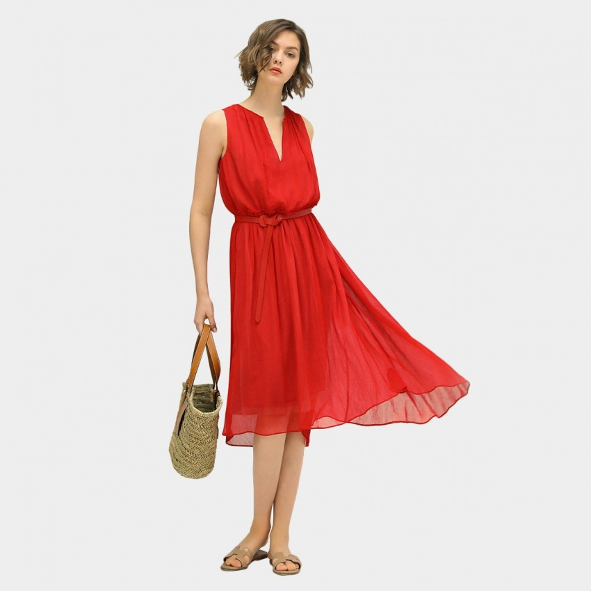 Buy Cocobella Red Midi Dress online, shop Cocobella with free shipping