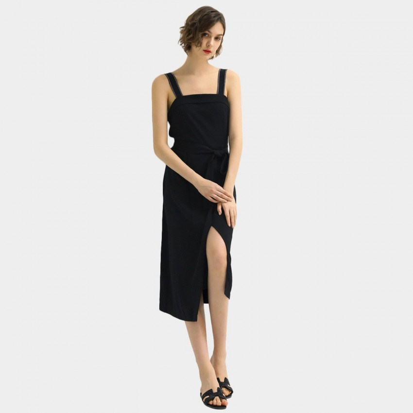 Buy Cocobella Black Split Dress online, shop Cocobella with free shipping