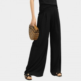 Cocobella Long Flowy Black Pants (PT594)
