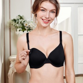 Gratlin Supportive Black Maternity Bra (A207)