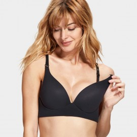Gratlin Smooth Black Maternity Bra (A049)
