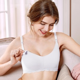 Gratlin Everyday White Maternity Bra (A206)