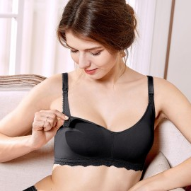 Gratlin Everyday Black Maternity Bra (A206)