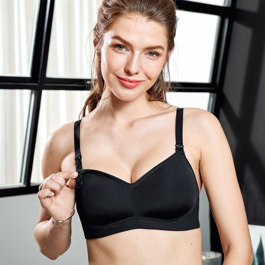 Gratlin Drop Cup Black Maternity Bra (A004)