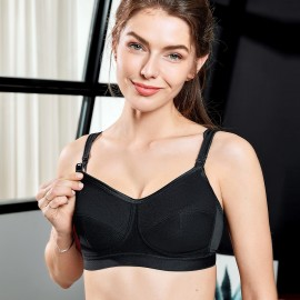 Gratin Firm Support Black Maternity Bra (A017)