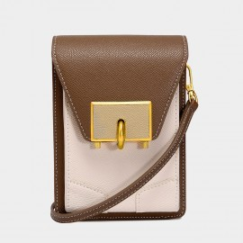 Cilela Morning Coffee Mini Turnlock Crossbody Bag (5002)