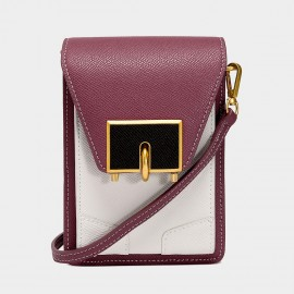Cilela Maroon Contrast Mini Turnlock Crossbody Bag (5002)