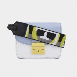 Cilela Seatbelt Strap Blue Shoulder Bag (CK-002017L)