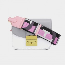 Cilela Seatbelt Strap Shades of Grey Shoulder Bag (CK-002017L)