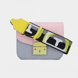 Cilela Powder Pink Seatbelt Strap Shoulder Bag (CK-002017L)