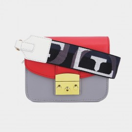 Cilela Statement Seatbelt Strap Small Red Shoulder Bag (CK-002017S)