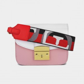 Cilela Reimagined Seatbelt Strap Small White Shoulder Bag (CK-002017S)