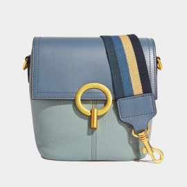 Cilela Switch It Up Stripey Seatbelt Strap Blue Shoulder Bag (CK-002018)
