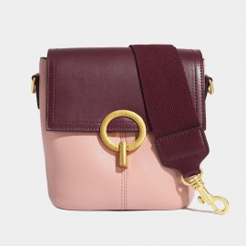 Cilela Sleek Seatbelt Strap Pink & Burgundy Shoulder Bag (CK-002018)