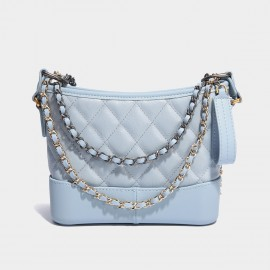 Cilela Quilted Elegance Baby Blue Shoulder Bag (CK-002022)