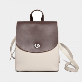 Cilela Keep it Neutral Foldover Brown Backpack (CK-002037)