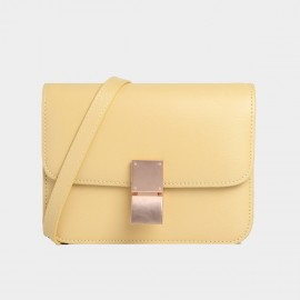 Cilela Sunshine Yellow Foldover Shoulder Bag (CK-002040L)