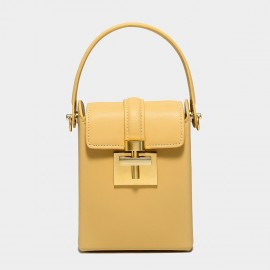 Cilela Studded Yellow Gold Top Handle Bag (CK-002043)