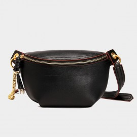 Cilela Classic Curve Black Shoulder Bag (CK-002049)