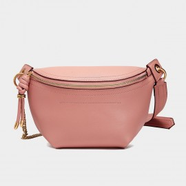 Cilela Classic Curve Rose Pink Shoulder Bag (CK-002049)
