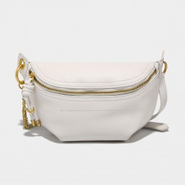 Cilela Classic Curve Whitest White Shoulder Bag (CK-002049)