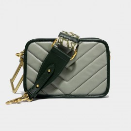 Cilela Rectangular Quilted Green Shoulder Bag (FS08004)