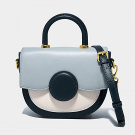 Cilela Semi Circle Shades of Blue Top Handle Bag (YS90004)