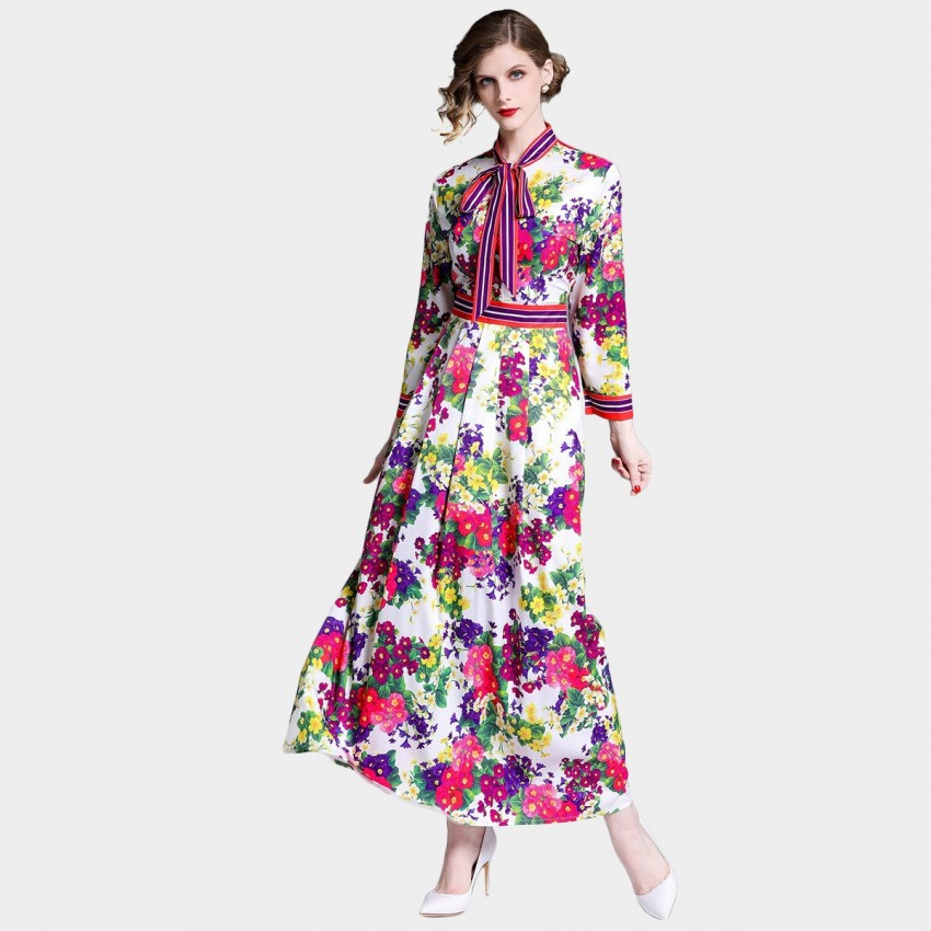 Buy DZA Flower Power Floral Maxi Shirt Dress online, shop DZA with free shipping