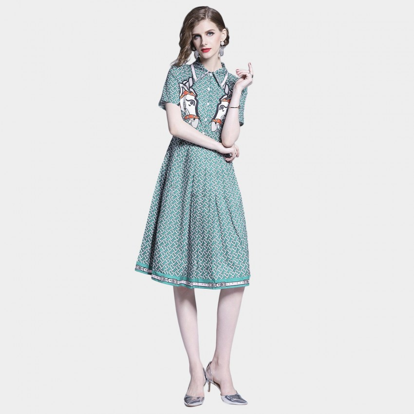 Buy DZA Old Town Road Green Dress online, shop DZA with free shipping