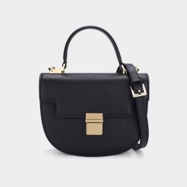 Dreabassa Semi Circle Black Top Handle Bag (Dr-17081880)