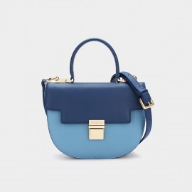 Dreabassa Semi Circle Blue Top Handle Bag (Dr-17081880)