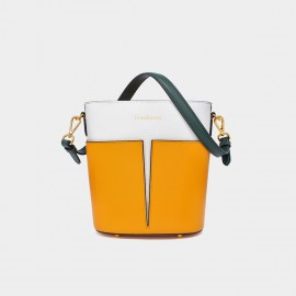Dreabassa Colour Block Yellow Tote Bag (Dr-18066980)
